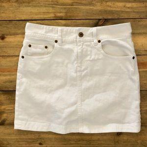 J.Crew White Denim Mini Skirt Size 0